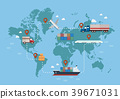 Global logistics network 39671031