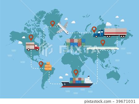 Global logistics network 39671031