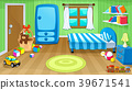 Funny bedroom with toys 39671541