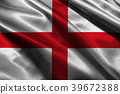 England national flag 3D illustration symbol.  39672388