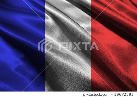 France national flag 3D illustration symbol. 39672393