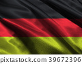 Germany national flag 3D illustration symbol. 39672396