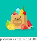 grocery, bag, vector 39674100