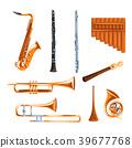 Musical wind instruments set, saxophone, clarinet 39677768