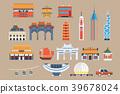 Symbols of Hong Kong sett, Chineset landmarks 39678024
