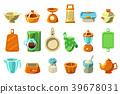 vector, kitchenware, sett 39678031
