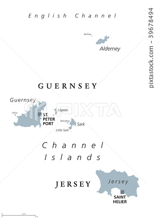 Guernsey and Jersey, Channel Islands, map 39678494