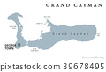 Grand Cayman gray political map 39678495