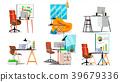 office, interior, vector 39679336