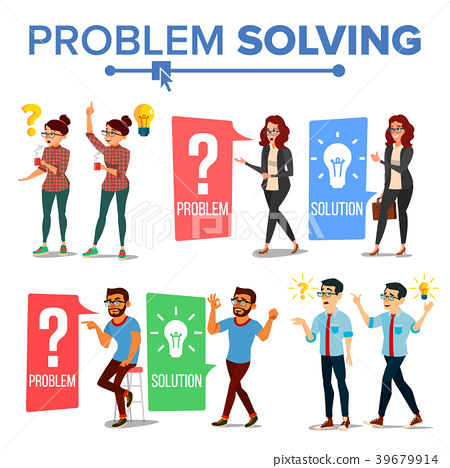 Problem Solving Concept Vector. Thinking Man And 39679914