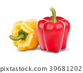 Fresh red and yellow peppers vector illustration 39681202