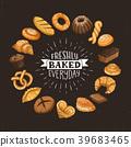 fresh bread circle poster 39683465