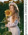 sunflower girl flower 39684855