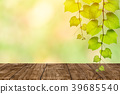 wooden table with nature blur green background 39685540
