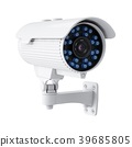 3D rendering security camera on white background 39685805