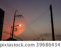 Sunset of the street lamp  39686434