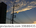 Sunset of the street lamp  39686435