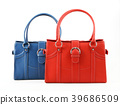 Red and Blue woman bag isolated on the white  39686509