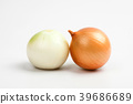 Gold onion vegetable on white background cutout 39686689