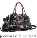 Black handbag isolated on white background 39686730