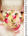 Bridal bouquet made from white roses  39686775