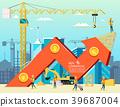 growth, construction, vector 39687004