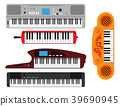 Keyboard musical instruments vector classical 39690945