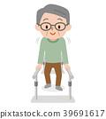 步态训练 老人 矢量 39691617