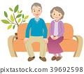 老人 夫婦 一對 39692598