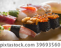 sushi, hand-pressed sushi, hand-shaped sushi 39693560