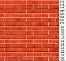 Brick wall seamless pattern with scratched tiled 39694122