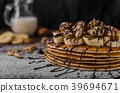 Rustic pancakes with banana 39694671