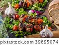 Grilled meat skewer 39695074