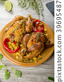 Roasted French baby Chicken - Coquelet 39695487