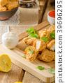 Chicken popcorn with garlic 39696295
