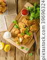 Chicken popcorn with garlic 39696324