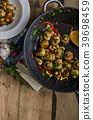 Fresh mushroom salad with chilli and herbs 39698459