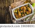 Festive slowly roasted chicken 39698691