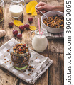 Home-baked granola with nuts, honey and pieces of fruit 39699065