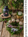Christmas advent wreath 39699496