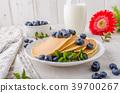 pancakes, pancake, blueberries 39700267