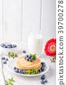 pancakes, pancake, blueberries 39700278