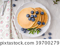pancakes, pancake, blueberries 39700279