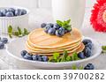 pancakes, pancake, blueberries 39700282