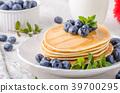pancakes, pancake, blueberries 39700295