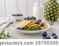 pancakes, pancake, blueberries 39700300