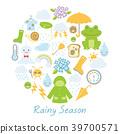 ฝนตก,ไอคอน,อากาศ 39700571