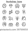 Psychology icon set in thin line style 39700650