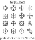 Target icon set in thin line style 39700654