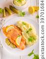 Fresh weiner schitzel original, mashed potatoes 39701684